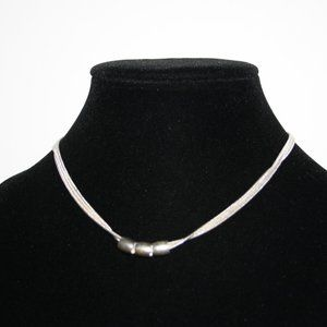 Beautiful silver statement necklace 15-19 inches